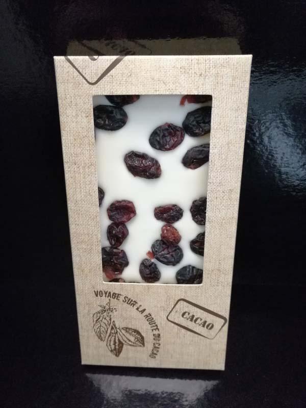 Tablette gourmande - Blanc cranberry